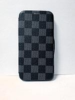 Защитный чехол-книжка для iPhone Xs Max кожаный, серый