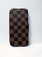 Защитный чехол-книжка для iPhone Xs Max кожаный, коричневый
