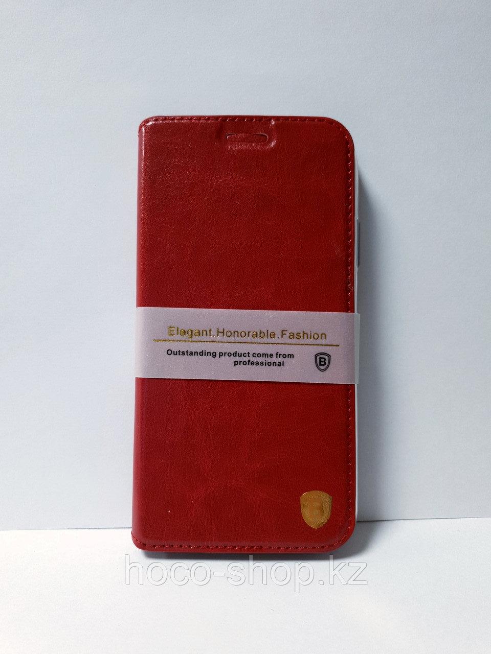 Защитный чехол-книжка Baseus iPhone Xs Max кожаный, красный