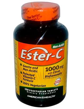 American Health, Ester-C, 1000 мг, 120 растительных таблеток