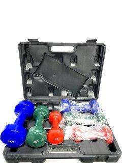 Гантели виниловые для фитнеса (в наборе -1кг,2кг,3кг)