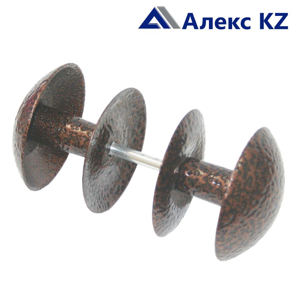 Ручка дверная-кнопка РК2-1 алюминий пол.бронза