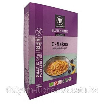 Кукурузные хлопья Urtekram C-flakes без глютена,без сахара 375 гр.