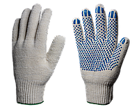Перчатки х/б с ПВХ Профи лайт 10 класс (Точка) 5 нитей