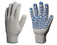 Перчатки х/б с ПВХ Стандарт 10 класс (Волна) 4 нити