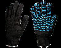 Перчатки х/б с ПВХ Стандарт 7,5 класс (Волна) 4 нити