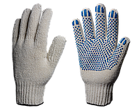 Перчатки х/б с ПВХ Стандарт 7,5 класс (Точка) 4 нити