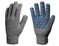 Перчатки х/б с ПВХ Эконом 7,5 класс (Волна) 3 нити
