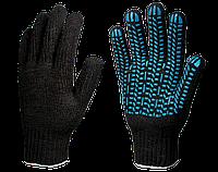 Перчатки х/б с ПВХ Эконом 7,5 класс (Протектор) 3 нити