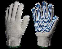 Перчатки х/б с ПВХ Эконом 10 класс (Протектор) 3 нити