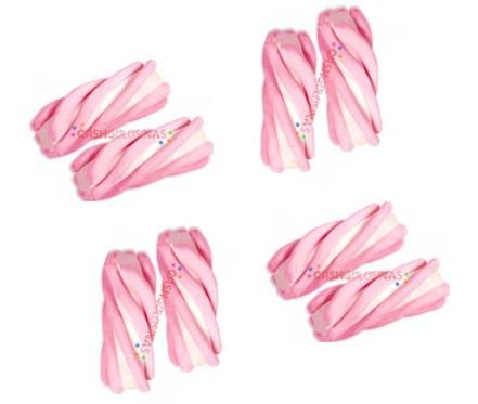 Суфле 3D спиралька бело розовое 0,86кг 125шт   /Fini Испания/
