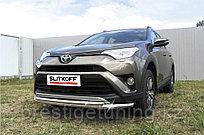 Защита переднего бампера d57+d42 двойная Toyota RAV4 2016-18
