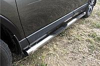 Защита порогов d76 с проступями Toyota RAV4 2016-18
