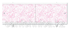 Экран для ванны 1480х560х37 мм мрамор розовый