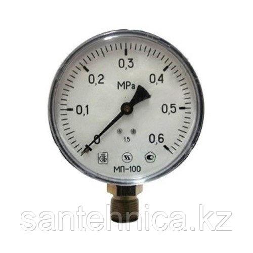 """Манометр МП-100 радиальный Дк100мм 6 бар (0,6 Мпа) G1/2"""" Завод Теплотехнических Приборов"""