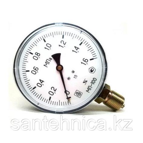 """Манометр МП-100 радиальный Дк100мм 16 бар (1,6 Мпа) G1/2"""" Завод Теплотехнических Приборов, фото 2"""