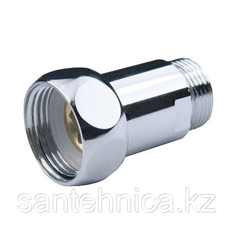 "Соединитель для полотенцесушителя латунь Ду 15х20 (1/2""х3/4"") наруж./накидная гайка хром, фото 2"