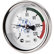 "Термометр биметаллический осевой Дк63 L=50 мм G1/2"" 120°С"
