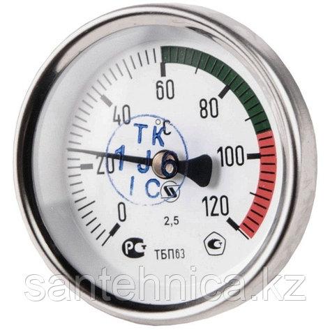 "Термометр биметаллический осевой Дк63 L=50 мм G1/2"" 160°С, фото 2"