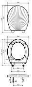 Сиденье для унитаза унив. белое перламутр. люкс КР3-6