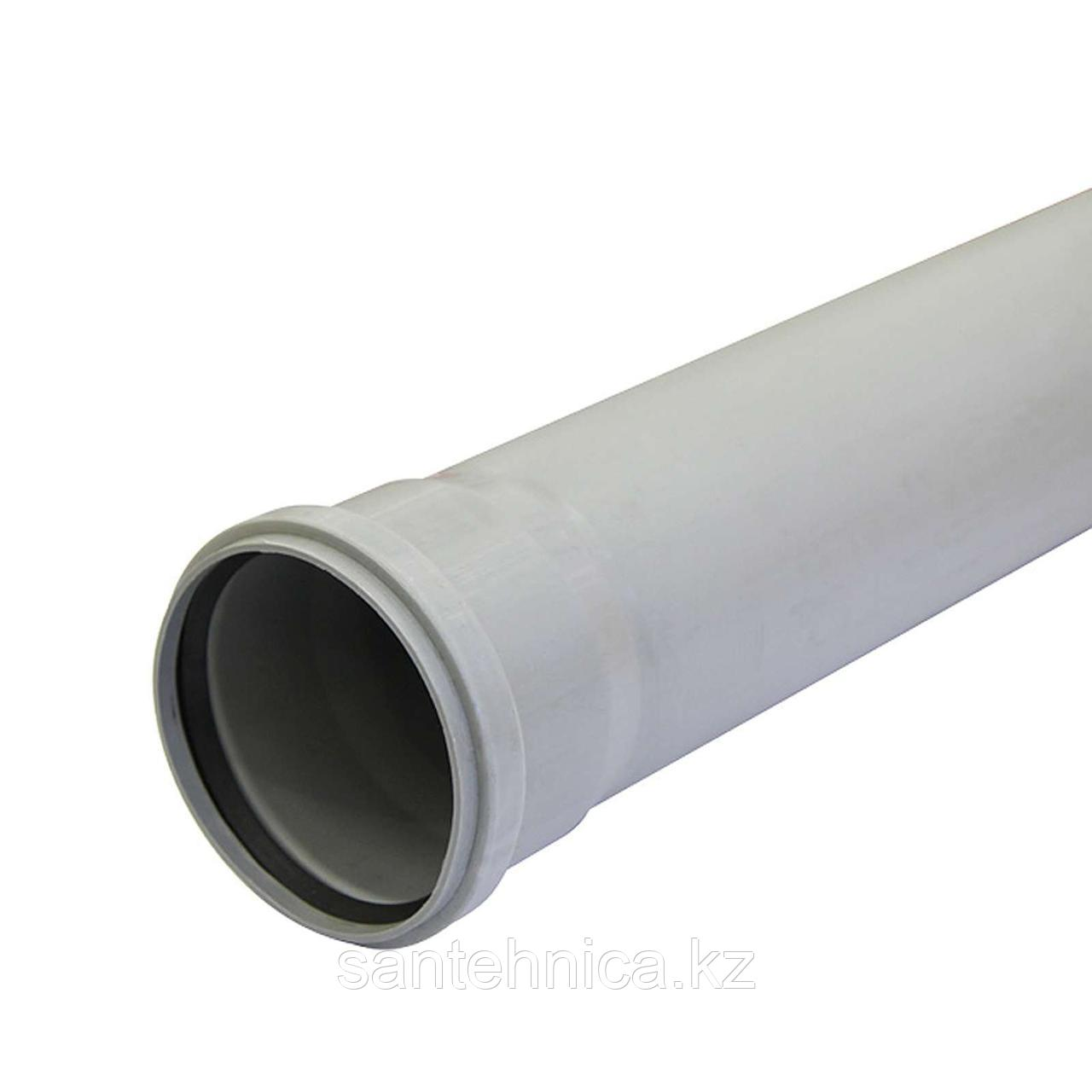 Труба с раструбом канализационная серая ПП Дн 110*2,2 L=2м Россия