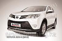 Защита переднего бампера d76+d57 двойная Toyota RAV4 2013-15