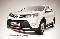 Защита переднего бампера d76 Toyota RAV4 2013-15