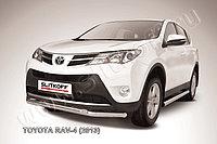 Защита переднего бампера d57+d57 двойная Toyota RAV4 2013-15