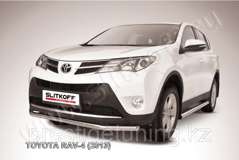 Защита переднего бампера d57 Toyota RAV4 2013-15