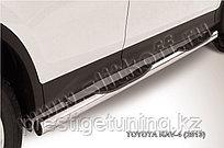 Защита порогов d76 с проступями Toyota RAV4 2013-15