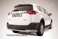 Защита заднего бампера d57+d42 двойная Toyota RAV4 2013-15