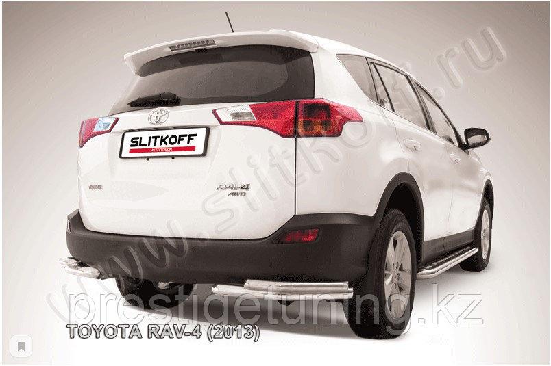 Уголки d57+d42 двойные Toyota RAV4 2013-15