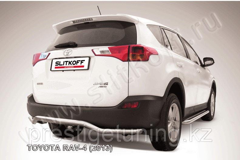 "Защита заднего бампера d57 ""волна"" Toyota RAV4 2013-15"