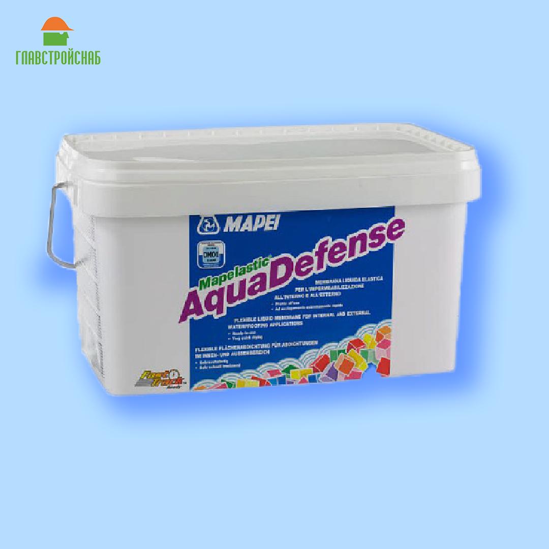 Mapelastic Aquadefence жидкая гидроизоляционная мембрана, 7,5 кг.