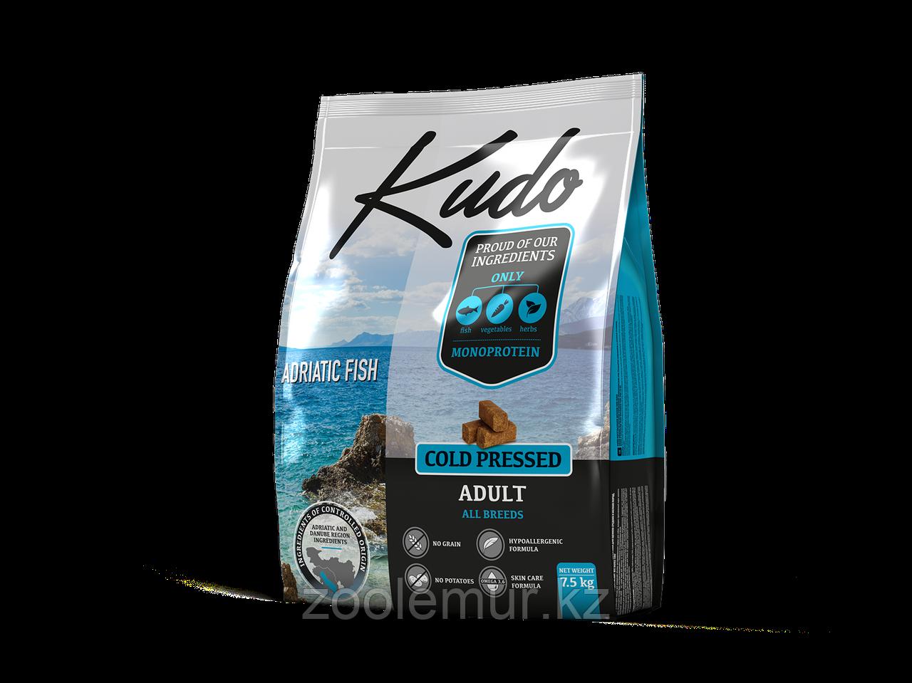 KUDO сухой корм для взрослых собак Адриатическая рыба 7.5 кг