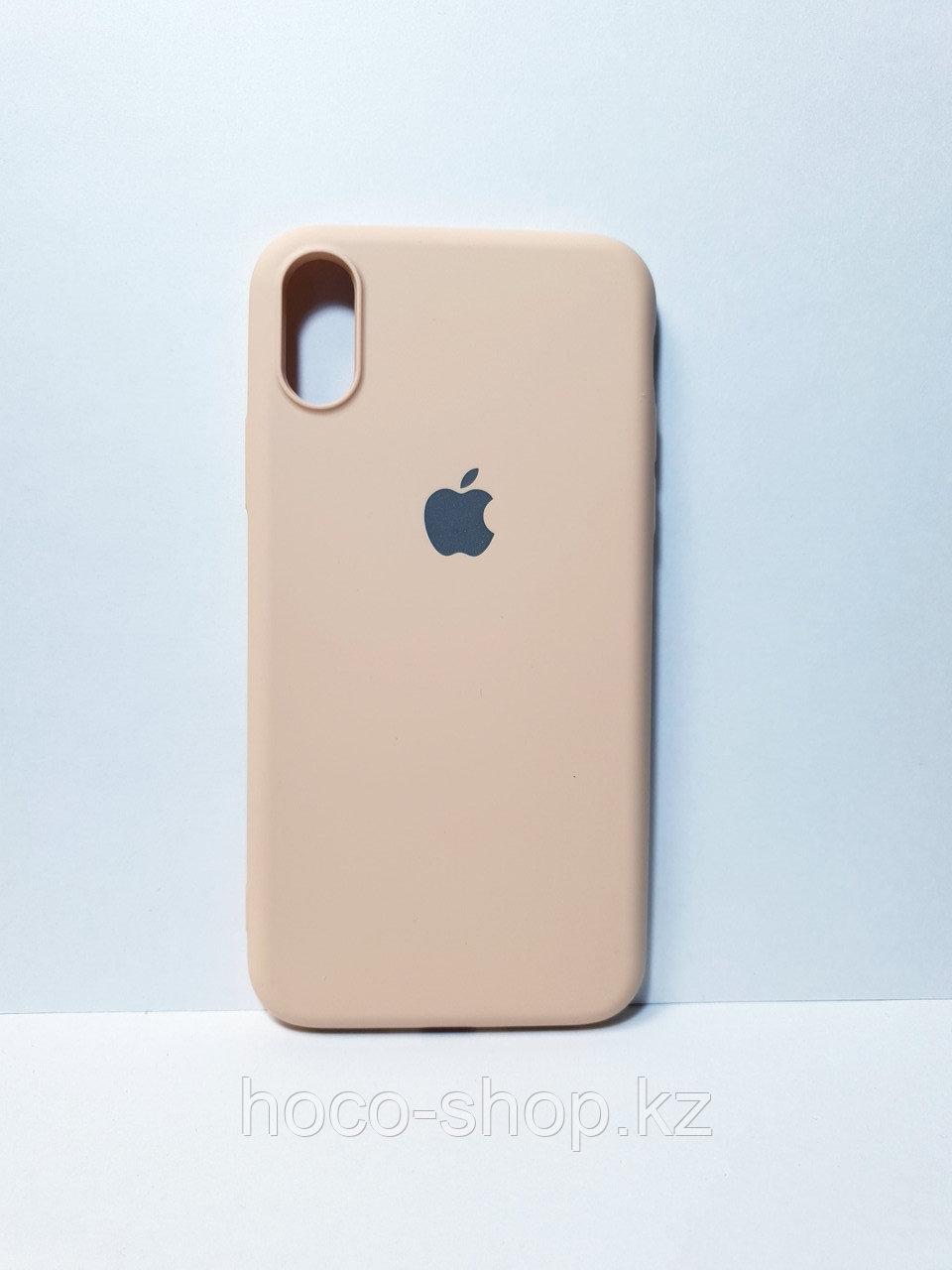 Защитный чехол для iPhone X/Xs Soft Touch силиконовый, бежевый