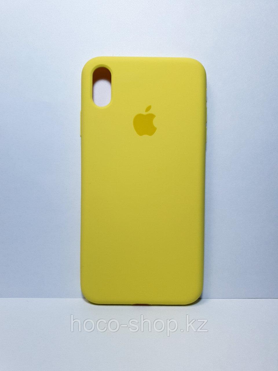 Защитный чехол для iPhone X/Xs Soft Touch силиконовый, желтый