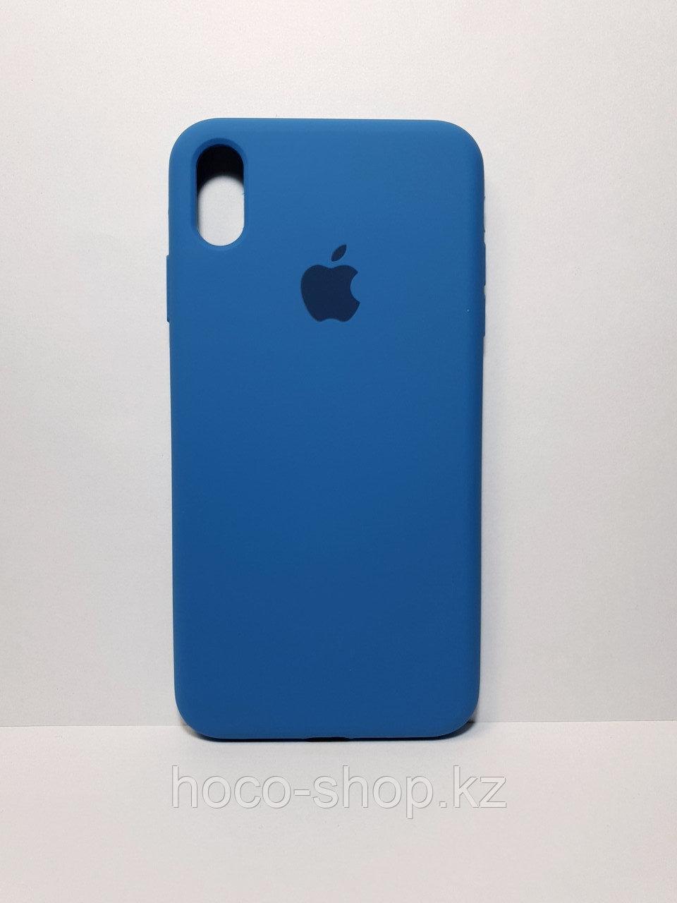 Защитный чехол для iPhone X/Xs Soft Touch силиконовый, синий