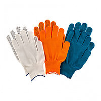 Перчатки в наборе, цвета: оранжевые, синие, белые, ПВХ точка, XL, Россия Palisad, фото 1
