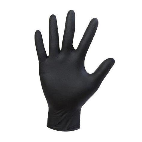 Перчатки нитриловые неопудр. р-р S, черные, 50 шт, фото 2