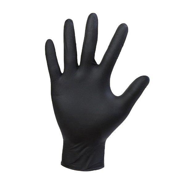 Перчатки нитриловые неопудр. р-р XL, черные, 50 шт