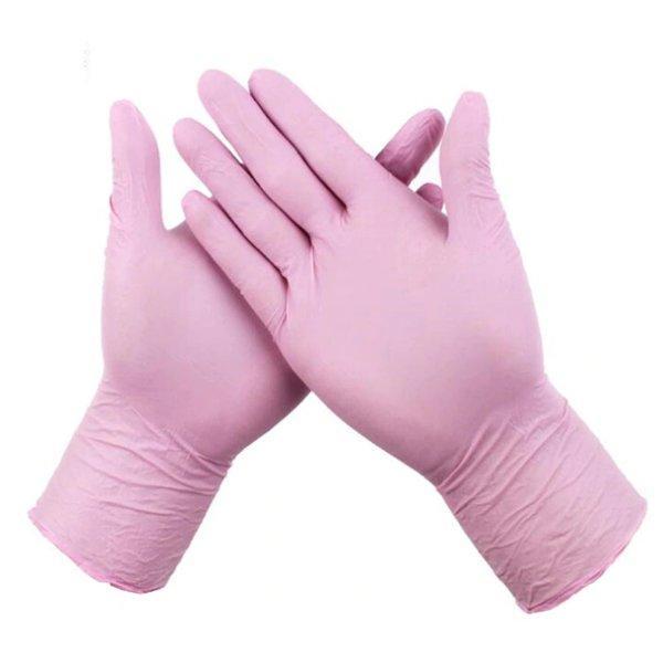 Перчатки нитриловые неопудр., р-р М, розовые, 50 шт