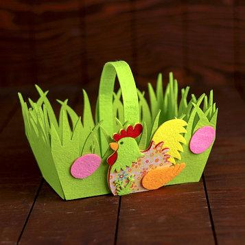 Пасхальная корзинка «Курочка» 16×20×11 см