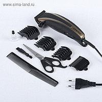 Машинка для стрижки Centek CT-2110, 12 Вт, 4 насадки, черная