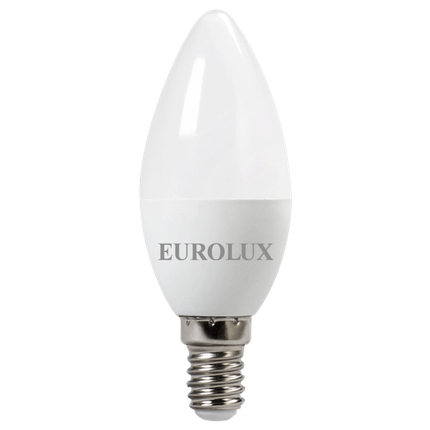 Лампа светодиодная EUROLUX LL-E-C37-6W-230-4K-E14, фото 2