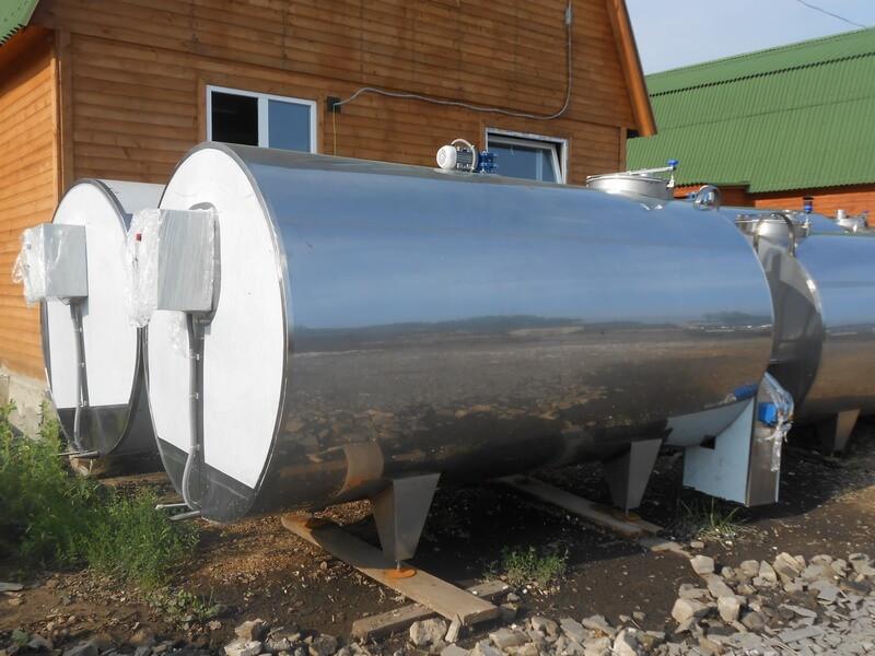 Охладитель молока закрытого типа от производителя.