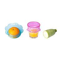 ОВЕРМЭТТ Крышка для продуктов, 3 шт., силикон разноцветный, фото 1