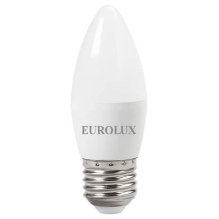 Лампа светодиодная EUROLUX LL-E-C37-6W-230-4K-E27, фото 2