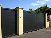 Распашные стальные ворота