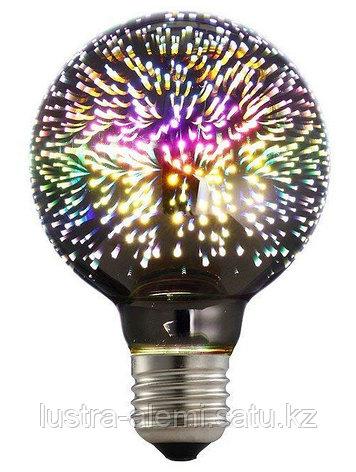 Лампа Шар 3D A60 6вт E27, фото 2